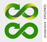 modern recycling logo. infinity ... | Shutterstock .eps vector #545129851