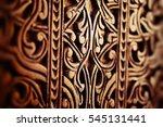 oriental texture on a wood....   Shutterstock . vector #545131441