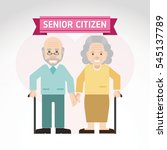 set of old people. senior man... | Shutterstock .eps vector #545137789