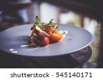 beautiful and delicious food on ... | Shutterstock . vector #545140171