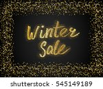 winter sale lettering  vector... | Shutterstock .eps vector #545149189