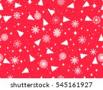 seamless pattern with christmas ... | Shutterstock .eps vector #545161927