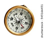 compass isolated on white. | Shutterstock . vector #545166451