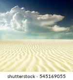 sunset over the sahara desert | Shutterstock . vector #545169055