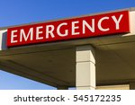 red emergency entrance sign for ... | Shutterstock . vector #545172235