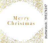 cute  gold confetti dotted...   Shutterstock . vector #545176147