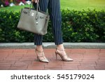 businesswoman summer outfit for ... | Shutterstock . vector #545179024