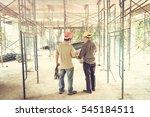 two business man construction... | Shutterstock . vector #545184511
