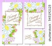 vintage delicate invitation... | Shutterstock . vector #545192125
