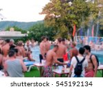 blur swimming pool party  many... | Shutterstock . vector #545192134