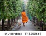 Thai Monks Returning To Their...