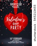 valentine's day party flyer.... | Shutterstock .eps vector #545213455