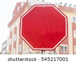 photograph of a blank red... | Shutterstock . vector #545217001