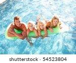 family outside relaxing in... | Shutterstock . vector #54523804