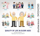quality of life in older ages.... | Shutterstock .eps vector #545242585