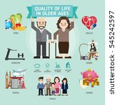 quality of life in older ages.... | Shutterstock .eps vector #545242597