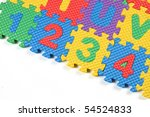 closeup of the numbers 1 2 3 4 | Shutterstock . vector #54524833