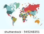 world map countries vector on... | Shutterstock .eps vector #545248351