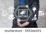 business loudspeaker laptop... | Shutterstock . vector #545266351