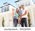 young family standing outside... | Shutterstock . vector #54526942