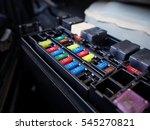 car color fuse box | Shutterstock . vector #545270821