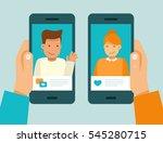 vector illustration in trendy... | Shutterstock .eps vector #545280715