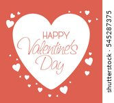 happy valentines day card | Shutterstock .eps vector #545287375