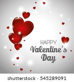 happy valentines day card | Shutterstock .eps vector #545289091