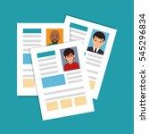 Curriculum Vitae Isolated Icon