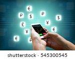 forex concept  businessman...   Shutterstock . vector #545300545