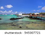boat dock at puerto ayora on...   Shutterstock . vector #545307721