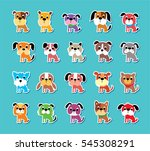 cute puppies vector collection   Shutterstock .eps vector #545308291