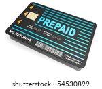 prepaid card | Shutterstock . vector #54530899