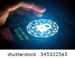 cyber security network concept  ... | Shutterstock . vector #545322565