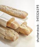 fresh baguettes in a paper bags ...   Shutterstock . vector #545326195