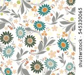 seamless repeating floral... | Shutterstock . vector #545330065