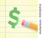 close up of a pencil erasing... | Shutterstock .eps vector #545336914