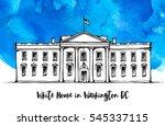 white house in washington dc ... | Shutterstock .eps vector #545337115
