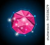 vector polygons  circles  light ... | Shutterstock .eps vector #545338279