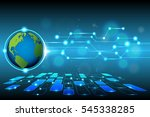 world and technology background ... | Shutterstock .eps vector #545338285