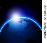 globe vector maps with sunlight.... | Shutterstock .eps vector #545338351