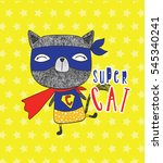 super cat | Shutterstock .eps vector #545340241