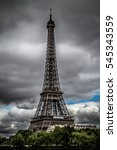 Eiffel Tower With Cloudy Sky ...