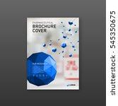 medical brochure cover template ... | Shutterstock .eps vector #545350675