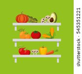 grocery store set icons vector... | Shutterstock .eps vector #545351221
