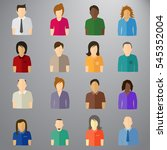 people icons. combine cloths ... | Shutterstock .eps vector #545352004
