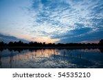 beautiful sunrise landscape... | Shutterstock . vector #54535210