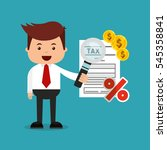 tax time flat line icons vector ... | Shutterstock .eps vector #545358841