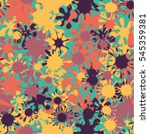 seamless pattern of colored... | Shutterstock .eps vector #545359381