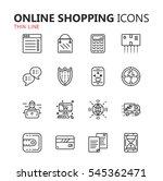 simple modern set of online... | Shutterstock .eps vector #545362471